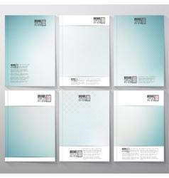 Striped blue background Brochure flyer or vector image
