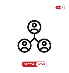 team icon vector image
