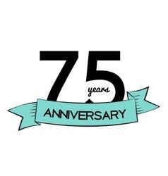 Template Logo 75 Years Anniversary vector image