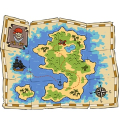 treasure map vector image