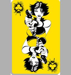 yellow joker vector image