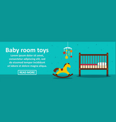 baby room toys banner horizontal concept vector image vector image
