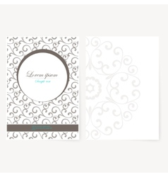 Decorative sheet of paper with oriental design vector image