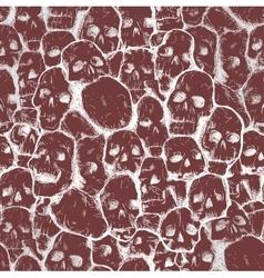 grungy skull pattern vector image vector image