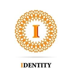 I Letter monogram logo abstract design vector image vector image