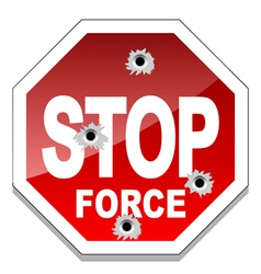 Stop force vector image