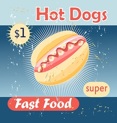 tasty hot dog vector image