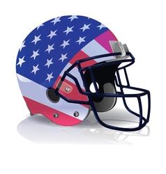 American Football Helmet with American Flag vector image