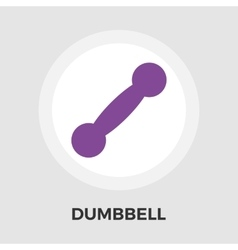 Dumbbell flat icon vector image vector image