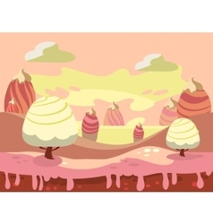fantasy sweet food land vector image vector image