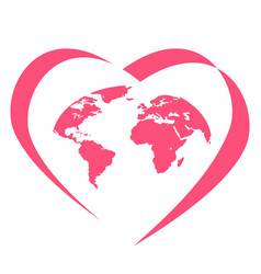 global love logo vector image