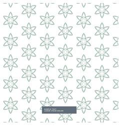 Minimal flower pattern background vector