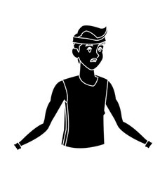 sport man fitness active lifestyle silhouette vector image vector image