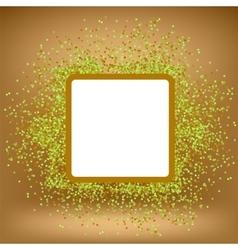 White Square Banner on Orange Gradient Background vector image