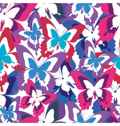 Abstract seamless pattern with colorful butterfly vector image vector image