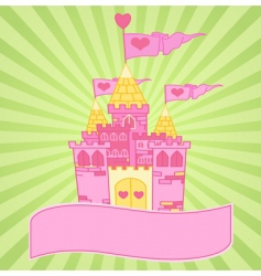 castle background vector image vector image
