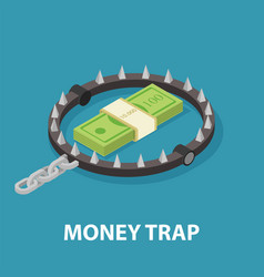 money trap isometric vector image