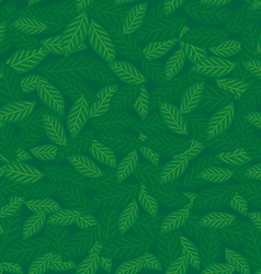 Seamless pattern with leaves green background vector image vector image