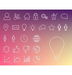 Simple Modern thin icon collection vector image vector image