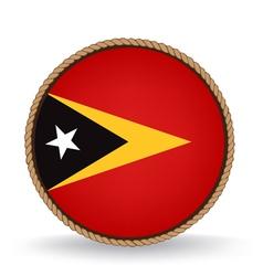 East Timor Seal vector image