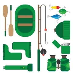 Icons theme of fishing vector image