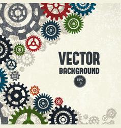 industrial gears background vector image vector image