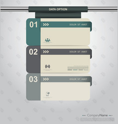 Modern clean template vector image vector image