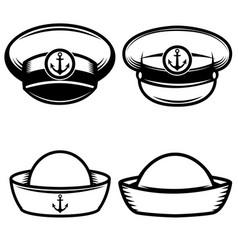 set of the sailors hat design elements for logo vector image