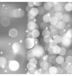silver blurred lights and stars vector image