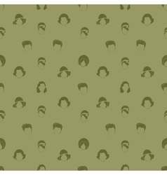 Womans Hair Style Silhouettes Seamless pattern vector image vector image