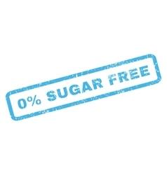 0 Percent Sugar Free Rubber Stamp vector