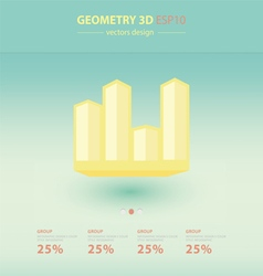 3d arrows infographic Template vector