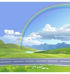 A hilly landscape vector