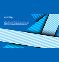 Abstract elegant blue intersected lines template vector