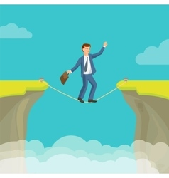 Abyss gap concept with businessman sky vector