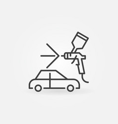 auto body painting thin line concept icon vector image