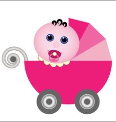 baby stroller vector image