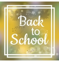 Back to School card design vector image