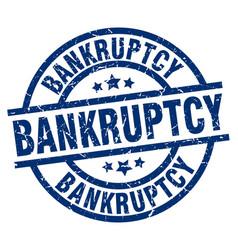 Bankruptcy blue round grunge stamp vector