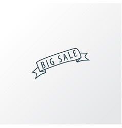 big sale icon line symbol premium quality vector image