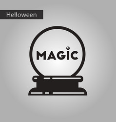Black and white style icon halloween magic ball vector
