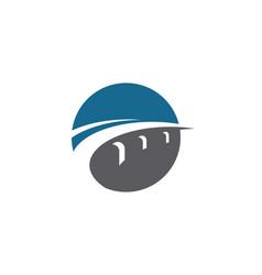 bridge icon logo template vector image
