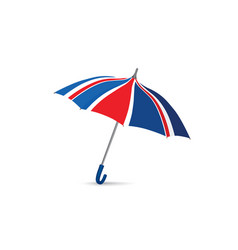 british flag colored umbrella season english vector image