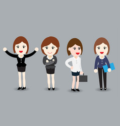 business woman flat design vector image