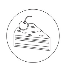 cake piece icon vector image