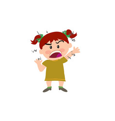 cartoon character girl angry vector image