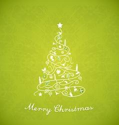 Christmas tree created of Christmas simple vector