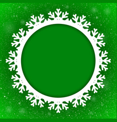 Circle Green Background New Year Snow Snowflake vector