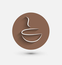 Coffee shop Coffee icon cafe design vector image