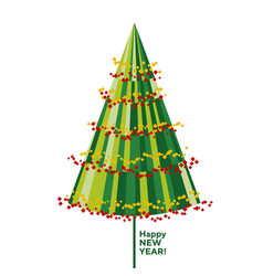 concept decorative abstract christmas tree vector image
